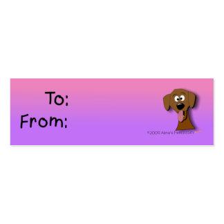 Tag do presente do cão roxo e rosa cartão de visita
