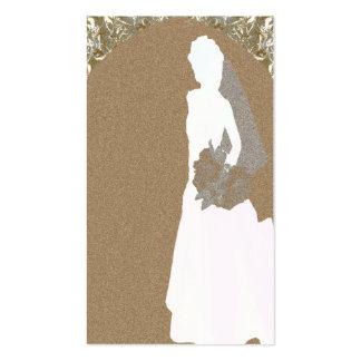 Tag do presente do chá de casamento cartoes de visita