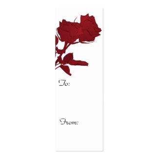 Tag do presente do chá de panela cartão de visita skinny