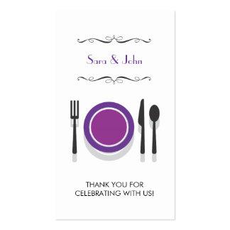 Tag do presente do chá de panela dos casais | cartão de visita