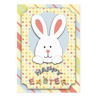 Tag do presente do coelhinho da Páscoa Cartão De Visita Grande