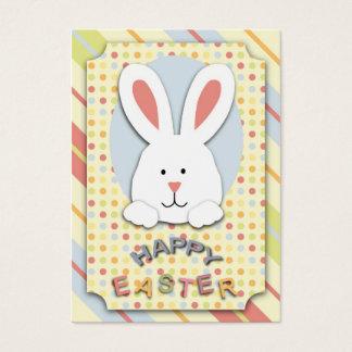Tag do presente do coelhinho da Páscoa Cartão De Visitas
