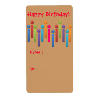Tag do presente do feliz aniversario do partido do etiqueta de frete