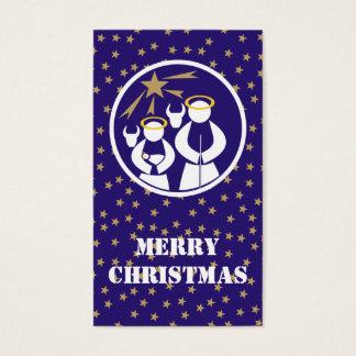 Tag do presente do Feliz Natal Cartão De Visitas