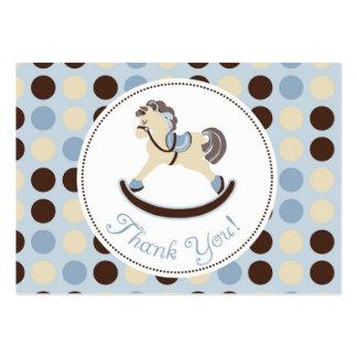 Tag do presente do menino TY do cavalo de balanço Cartão De Visita Grande