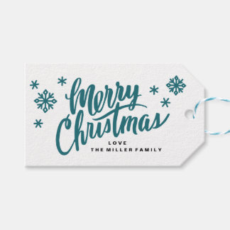 Tag do presente do Natal do roteiro da escova Etiqueta Para Presente