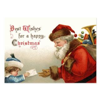 Tag do presente do natal vintage modelo cartao de visita