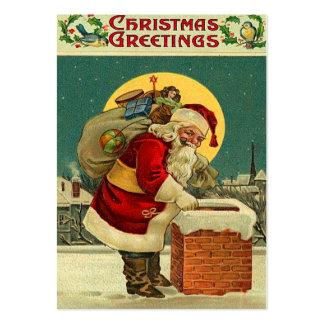Tag do presente do natal vintage cartões de visitas