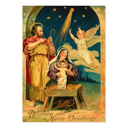 Tag do presente do natal vintage cartoes de visita