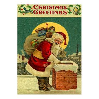 Tag do presente do natal vintage cartão de visita grande