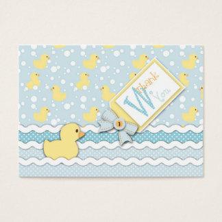 Tag do presente do patinho TY de Lil Cartão De Visitas