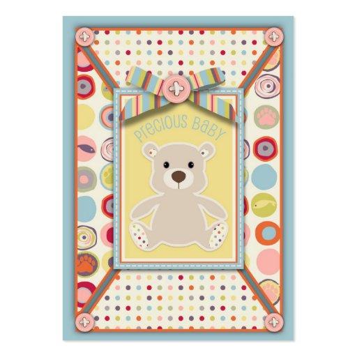 Tag do presente do urso do urso modelos cartões de visitas