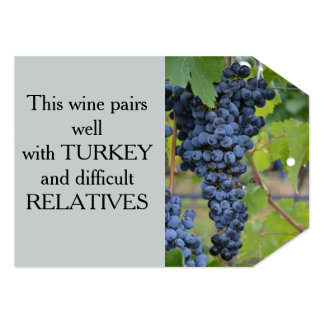 Tag do presente do vinho convite 12.7 x 17.78cm