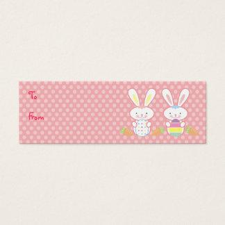 Tag do presente dos coelhinhos da Páscoa Cartão De Visitas Mini