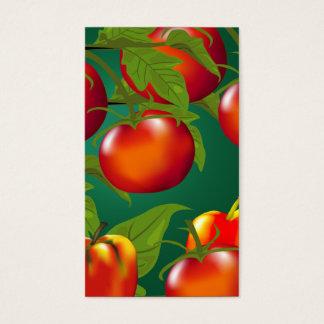 Tag do presente dos tomates e das pimentas de Bell Cartão De Visitas
