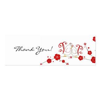 Tag do presente, Lovebirds, obrigado Cartões De Visitas