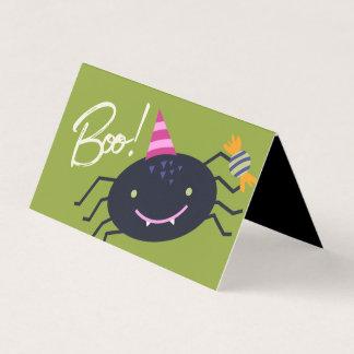 Tag do saco de Goodie da aranha do Dia das Bruxas Cartão