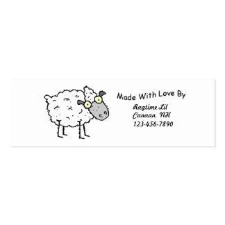 Tag do tecido de Sheepy Cartão De Visita Skinny