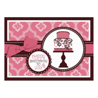 Tag doce do presente do bolo cartão de visita grande