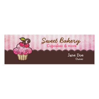 Tag dos cartões de visitas do cupcake da baga da c