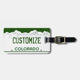Tag feito sob encomenda da bagagem da matrícula de etiqueta de bagagem