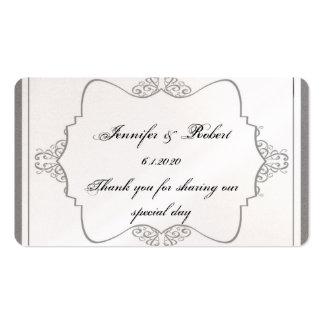 Tag fino filigrana cinzento do favor do casamento  cartão de visita