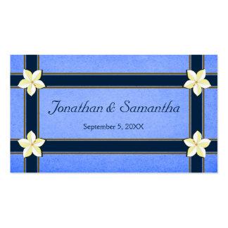 Tag florais azuis rústicos do favor do favor do cartão de visita