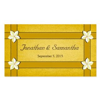 Tag florais do favor do favor do casamento do ouro cartão de visita