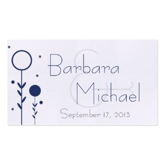 Tag floral azul do favor do casamento do ponto cartão de visita