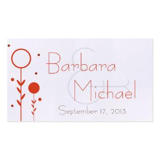 Tag floral do favor do casamento do ponto do cartão de visita