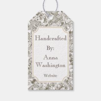 Tag Handcrafted mármore do presente do negócio da