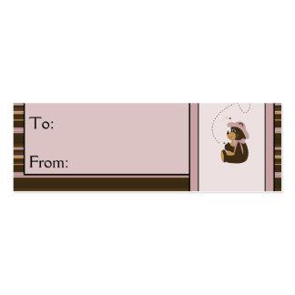 Tag horizontais bonito do presente das listras do  cartão de visita skinny