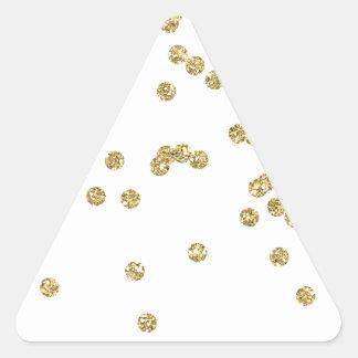 Tag listrado da bagagem do monograma adesivo triangular