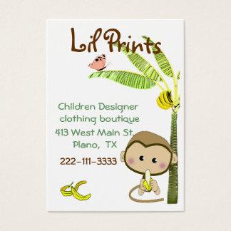 Tag lunático do cartão de visita do boutique do