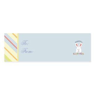 Tag magro 2 do presente do coelhinho da Páscoa Cartão De Visita Skinny
