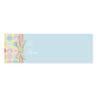 Tag magro 2 do presente do coelho doce cartões de visita
