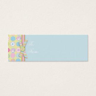 Tag magro 2 do presente do coelho doce cartão de visitas mini