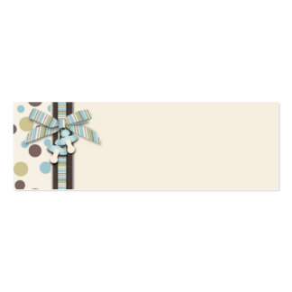 Tag magro 2 do presente do menino cartão de visita skinny