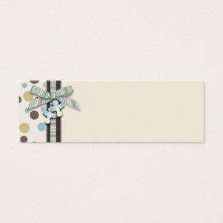 Tag magro 2 do presente do menino cartão de visitas mini