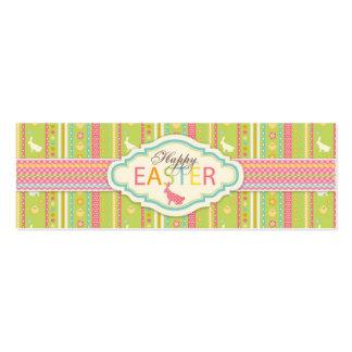 Tag magro 2 do presente do salto do coelho cartões de visitas