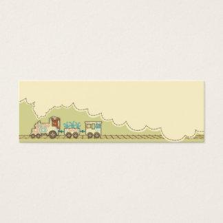 Tag magro 2 do presente do trem de Choo Choo Cartão De Visitas Mini