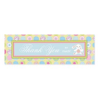 Tag magro 3 do presente do coelho doce cartão de visita skinny