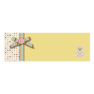 Tag magro B do presente do urso do urso Cartão De Visita Skinny