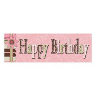 Tag magro do presente do aniversário da menina de cartão de visita skinny