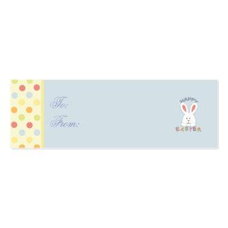 Tag magro do presente do coelhinho da Páscoa Cartão De Visita Skinny