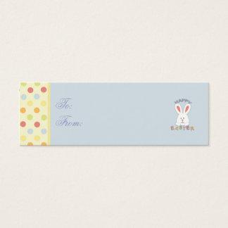 Tag magro do presente do coelhinho da Páscoa Cartão De Visitas Mini