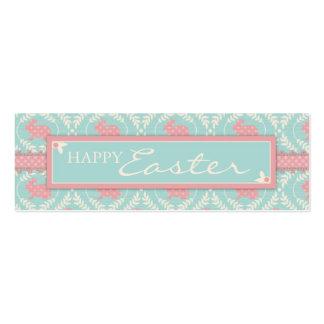 Tag magro do presente do coelho chique cartão de visita skinny