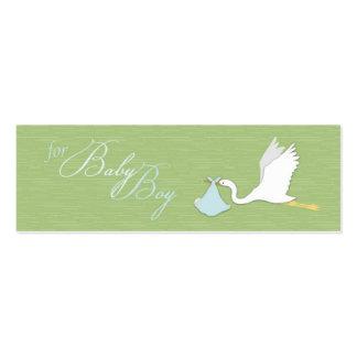 Tag magro do presente do menino de entrega da cego cartões de visitas