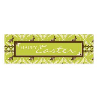 Tag magro do presente dos coelhos do chocolate cartão de visita skinny