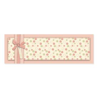 Tag magro floral do presente da menina bonito cartão de visita skinny